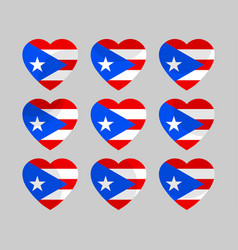 Heart with puerto rico flag i love puerto rico vector