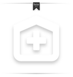 hospital design over white background vector image