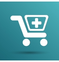 isolated shopping cart icon with a vector image