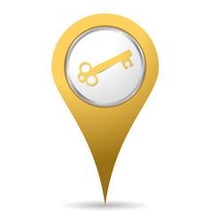 location key icon vector image