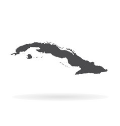 Map cuba isolated black on vector