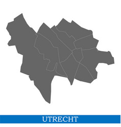 Map is a city of netherlands vector