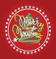 Merry christmas print vector image