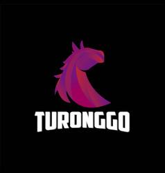 modern gradient horse logo 3d icon logo vector image