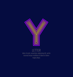 modern linear logo and sign the letter y vector image