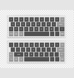 Modern wireless keyboard isolated on transparent vector