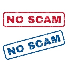 No Scam Rubber Stamps vector
