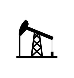oil derrick mining pump tower flat icon vector image