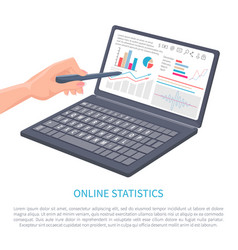 online statistics business data poster vector image