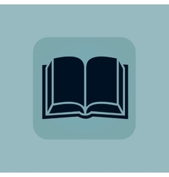 Pale blue book icon vector image