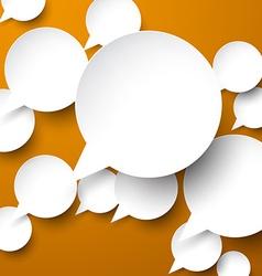 Paper white speech bubbles vector