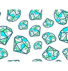 pattern of green emeralds of different si vector image