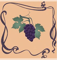 purple grapes vector image