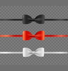 realistic detailed 3d shiny present satin ribbon vector image