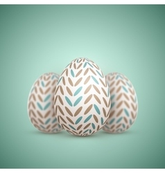Realistic Easter Egg Painted Egg vector image
