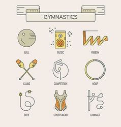 Rhythmic Gymnastics Icons vector image