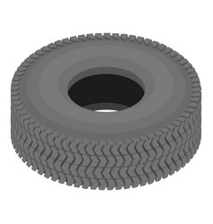 Rubber tyre icon isometric style vector