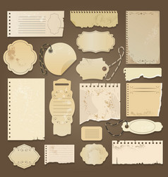 Scrapbooking ripped old papers vector
