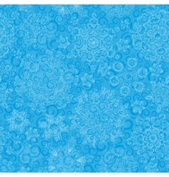 Seamless pattern of snowflakes Golden snowflakes vector image