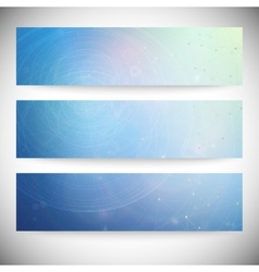 Set of horizontal banners Conceptual Design vector image