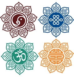Set oriental design elements vector