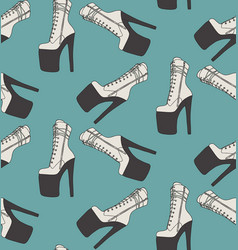 sexy high heels boots pole dance pleaser shoes vector image