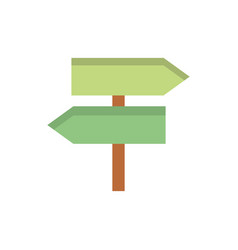 sign arrow direction gps map and navigation vector image