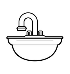 sink vector image