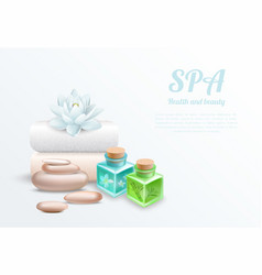 spa realistic gentle design concept vector image