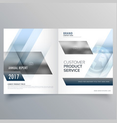 Stylish modern bifold brochure design for your vector
