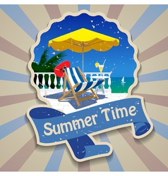 Summer time label vector
