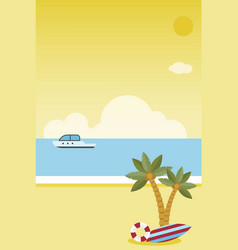 summer vacation summer beach poster vector image