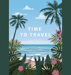 time to travel summer holidays vacation seascape vector image