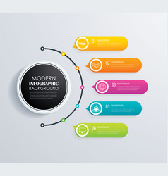 Timeline 5 infographic design and marketing vector