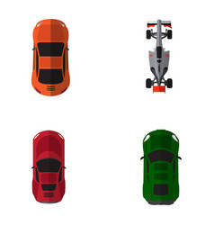 top view vehicles vector image