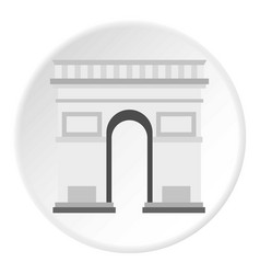 triumphal arch icon circle vector image