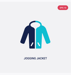 Two color jogging jacket icon from clothes vector