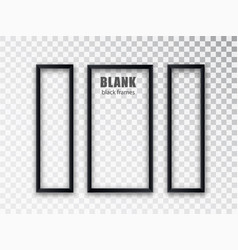 Vertical frames mockup template isolated on vector
