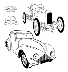 Vintag cars vector image