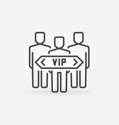Vip people concept icon in thin line style vector