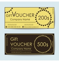 Voucher vector image
