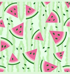Watermelon fresh seamless pattern vector