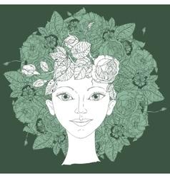 Woman beauty vector image
