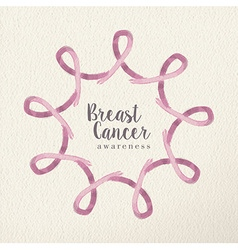 Breast cancer awareness design made with ribbons vector image
