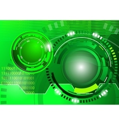 circle green abstract techno background vector image