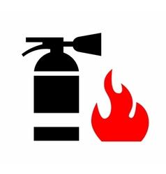 Fire extinguisher vector image