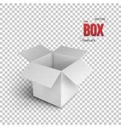 Realistic Open Package Box EPS10 vector image
