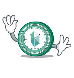 waving kyber network character cartoon vector image vector image