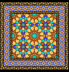 arabic stained glass ornament vector image vector image
