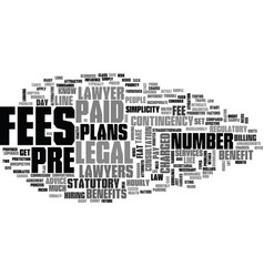 benefits of prepaid legal plans text word cloud vector image vector image